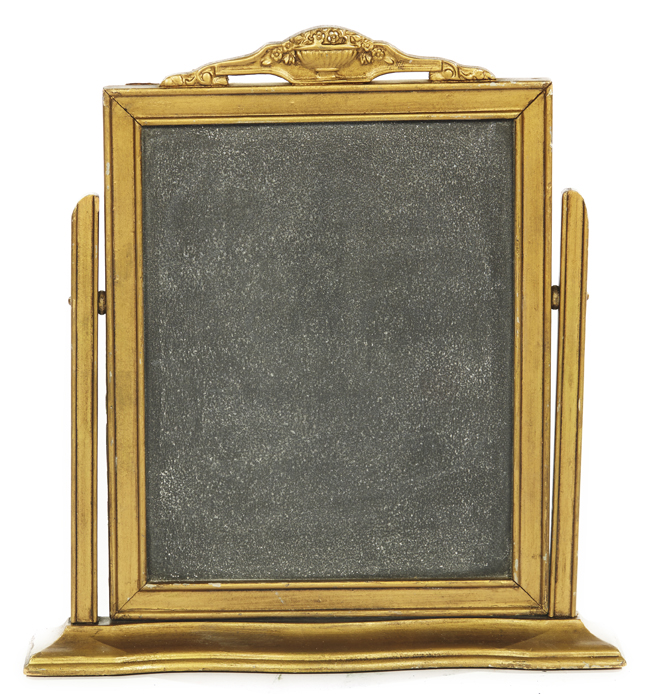 A La Crate Vintage Rentals Gold Self-Standing Chalkboard Small