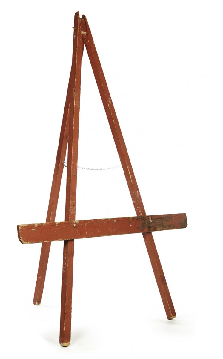 Red Barn Wood Easel A La Crate Vintage Rentals