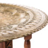 A La Crate Rentals-Table-Brass-Round-Collapsible-Top