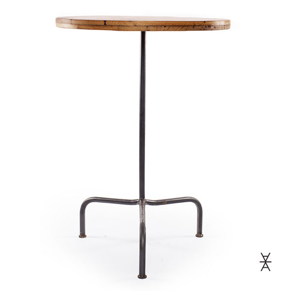 Round Wood Cocktail Table Rental. Made In Madison And Milwaukee, Wisconsin.  Barn Wood