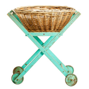 ALaCrate-Rentals-Vintage-Cart-Aqua-Wicker-Straight-Display-Wisconsin