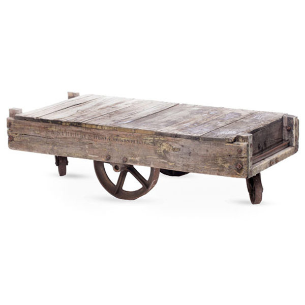 Ordinaire ALaCrate Rentals Vintage Cart Rustic Coffee Table Lounge