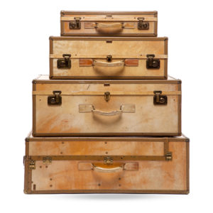 Stacking Vintage Hartman Suitcases for Rent