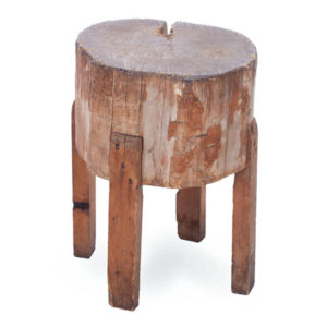 ALaCrate-Rentals-Vintage-Wood-Butcher-Block-4Legs-Side-Wisconsin Table Rental
