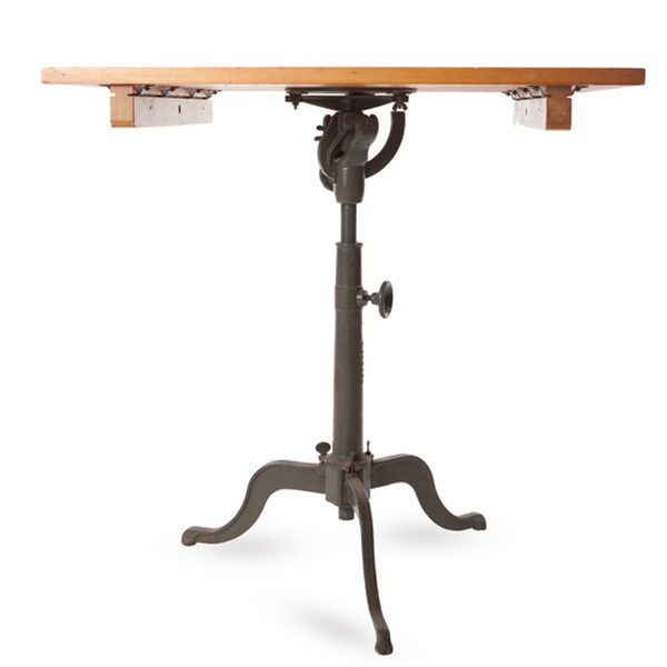 ALaCrate-Rentals-Wood-Drafting-Table-Antique-Legs-Metal-Industrial