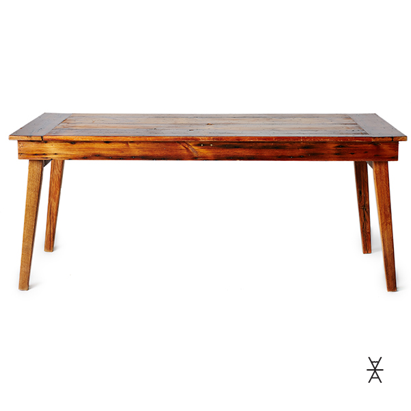 ALaCrate Table Rentals 5 Foot Harvest Wood Table
