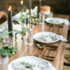 Styled Wedding Reception Photo Shoot in Stevens Point Wisconsin using our Wood Tables