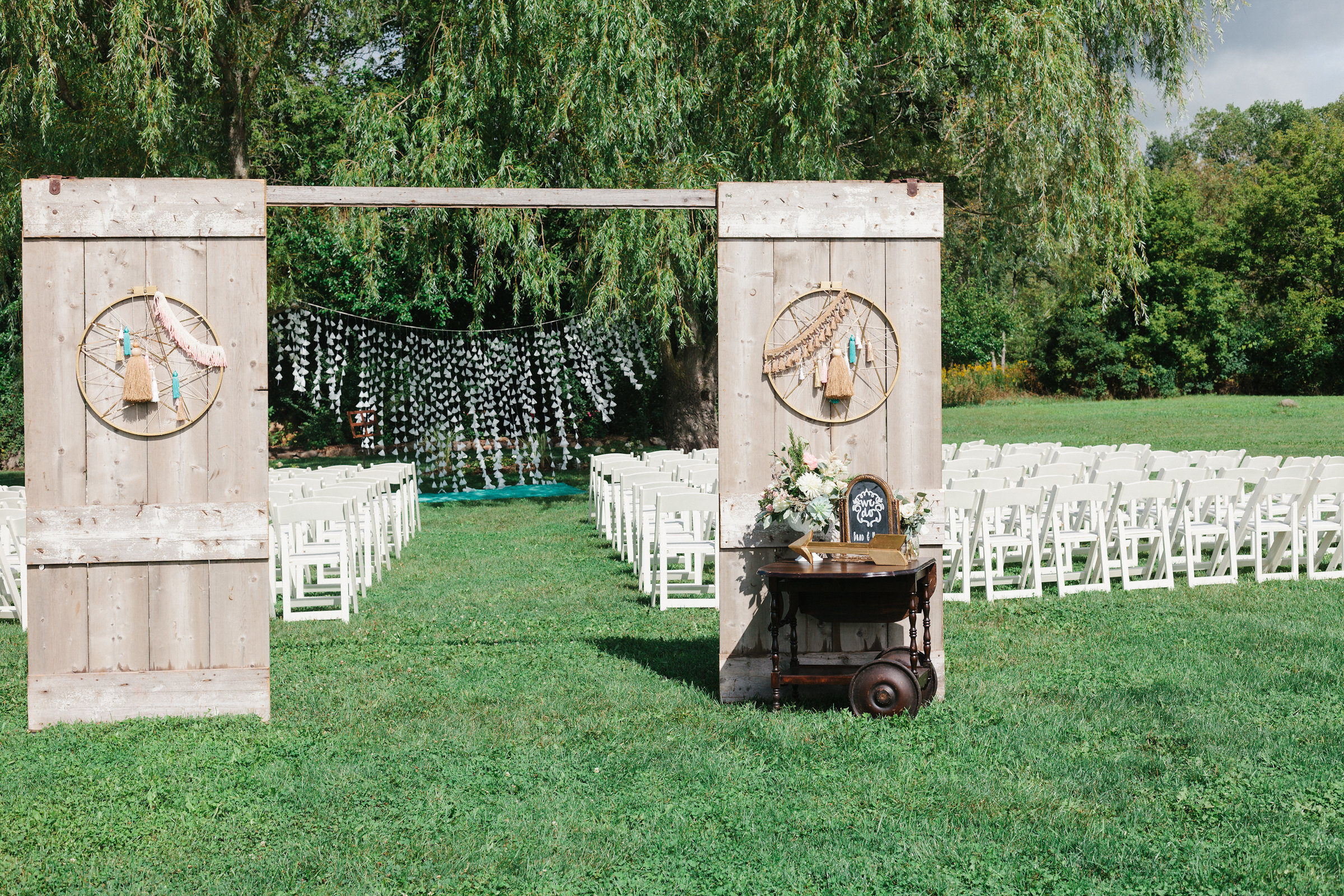 Backdrop Two Barn Door Entry A La Crate Rentals