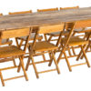 Hand built wood harvest table rentals made in Wisconsin reclaimed barn wood