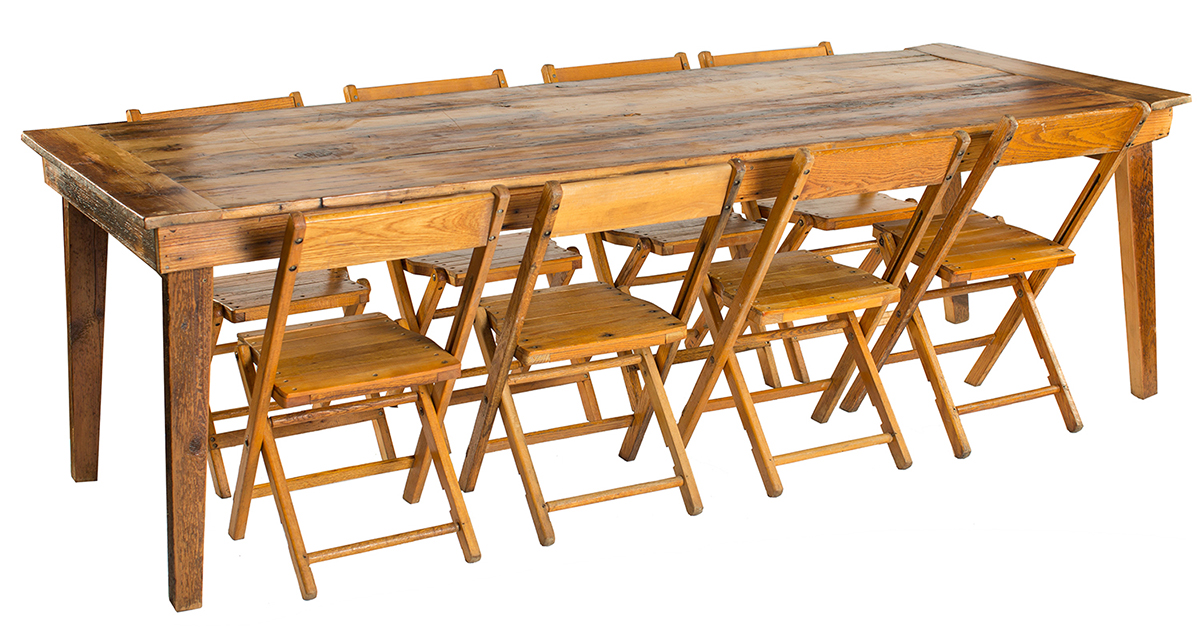 Wood Harvest Table Rentals A La Crate Rentals Table Rentals