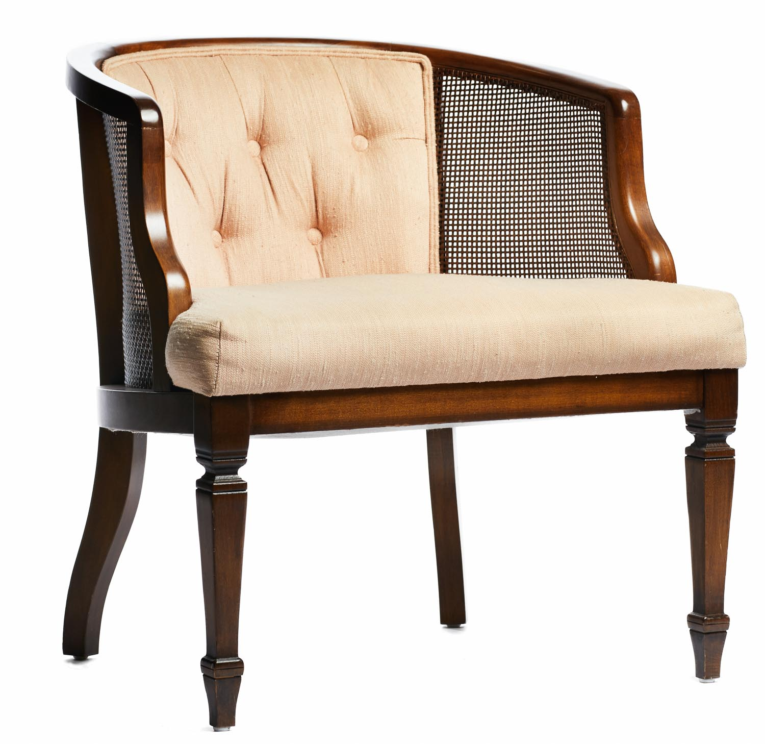 A La Crate Rentals Chair_peach MCM Straight Furniture