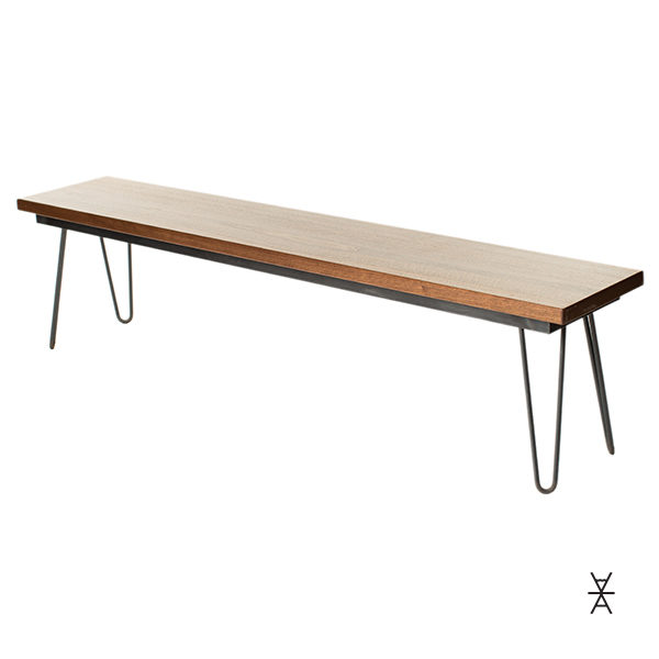 Fabulous Bench Hairpin Walnut Caraccident5 Cool Chair Designs And Ideas Caraccident5Info