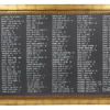 A La Crate Rentals Chalkboard Gold Wide XXL Example Seating Chart