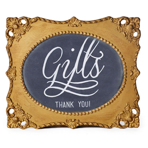 A La Crate Rentals Pre-written Gifts Thank You Chalkboard