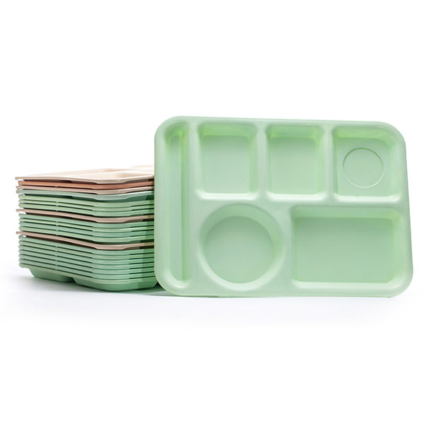 ALaCrate-Rentals-LunchTrays-Stacked-Vintage-MintGreen-SalmonColor-Wisconsin