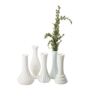 ALaCrate-Rentals-Milk-Glass-Vases-Short-Centerpieces-WeddingDecor