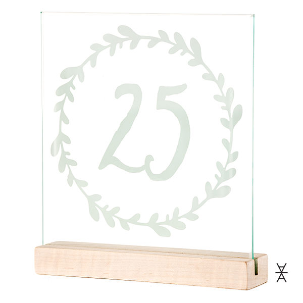 ALaCrate-Rentals-Glass-Table-Number-Rental-Glass-Wood-Base-Weddings-Wisconsin