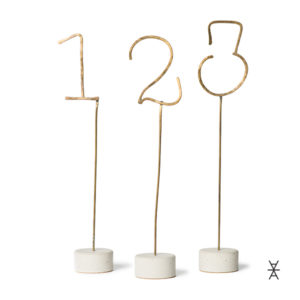 ALaCrate-Rentals-Table-Numbers_Brass_HumanCrafted-MadeInWisconsin Centerpiece Rentals WI