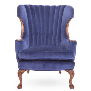 ALaCrate-Rentals-Vintage-Chair-Blue-Velvet-Statement-Wisconsin