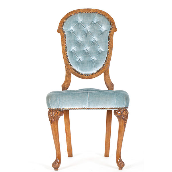 ALaCrate-Rentals-Vintage-Chair-LightBlue-Velvet-Small-Side-Seating-Wedding-Chair Rentals