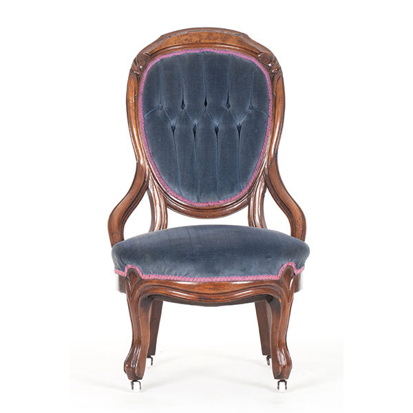 ALaCrate-Rentals-Vintage-Chair-Slate-Blue-Velvet-Lounge-Wedding