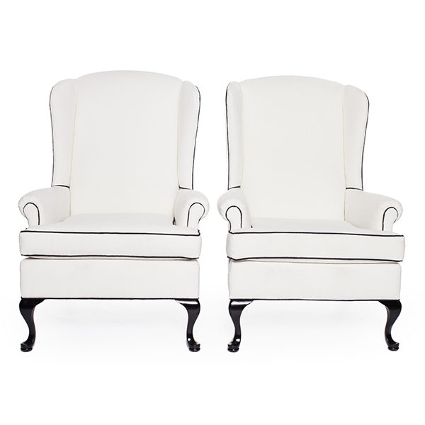 ALaCrate-Rentals-Vintage-Chair-Wingback-WhiteBlack-Pair-Lounge-Seating-Wedding-Corporate-Event Rentals