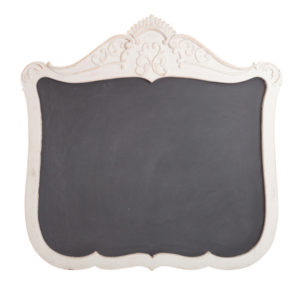 ALaCrate-Rentals-Vintage-Chalkboard-White-Dresser-Scroll-L-Wedding-Wisconsin