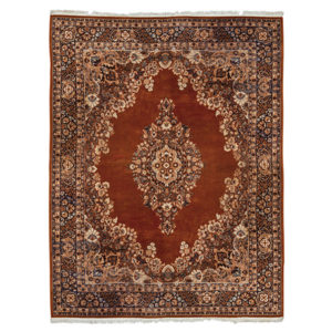 ALaCrate-Rentals-Vintage-Ethan-Allen-Rug-Cinnamon-Indigo-Lounge-Wedding-Corporate-Event-Area-Rug