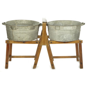 ALaCrate-Rentals-Vintage-Wash-Basin-Wood-Stand-Outdoor-Wedding-Ceremony-Reception-Wisconsin