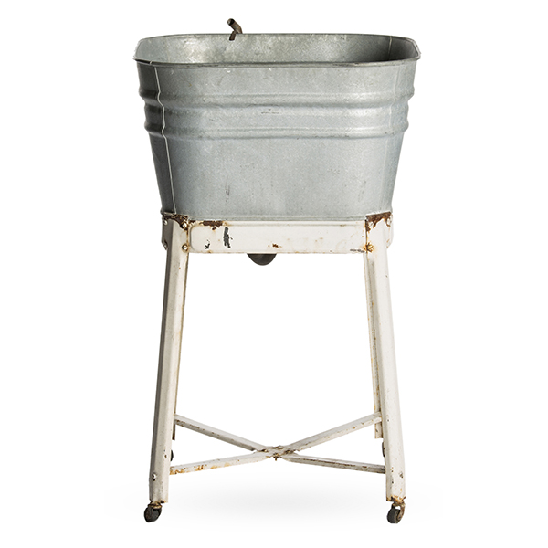 Wash Basin Galvanized Single A La Crate Rentals
