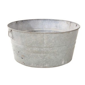 ALaCrate-Rentals-Vintage-WashBasin-GalvanizedTub-Beverage-Station-Wedding-Outdoor-Vessel