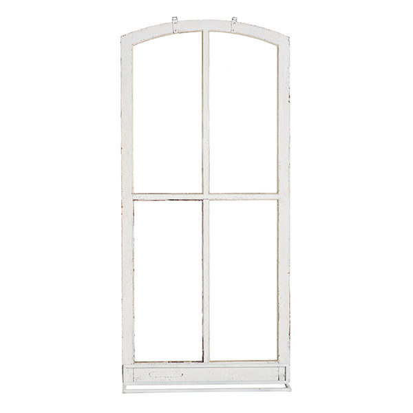 ALaCrate-Rentals-Vintage-White-Windows-Cathedral-MetalBase-Standing-Signage-WI