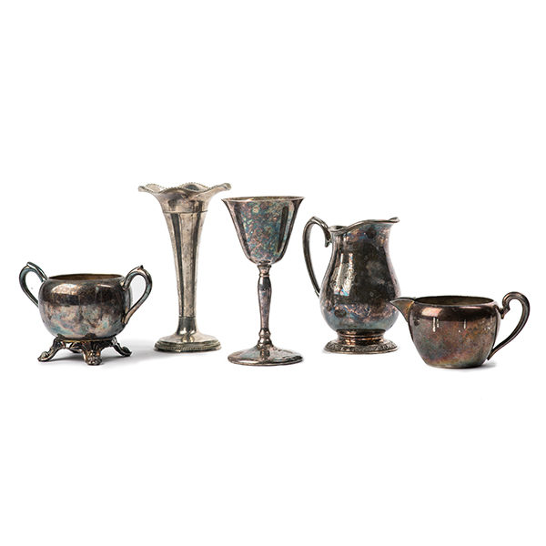 ALaCrate-Rentals-Wedding-Decor-Silver-Tarnished-Vessels-Cups-Vases-Wisconsin