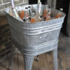 Galvanized wash basin for rental for your next party or event.