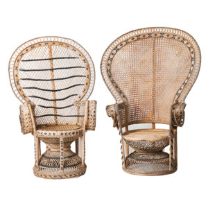 Peacock chair rental, pairs