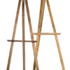 A La Crate Rentals Madison Wisconsin. Hand built reclaimed wood adjustable easel.