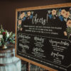 A La Crate Rentals Custom Writing on our Wood Slate XL Chalkboard at The Edgewater in Madison, Wisconsin