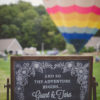 A La Crate Rentals Custom Lettering Signage Chalkboard Hot Air Balloons Wisconsin Illinois