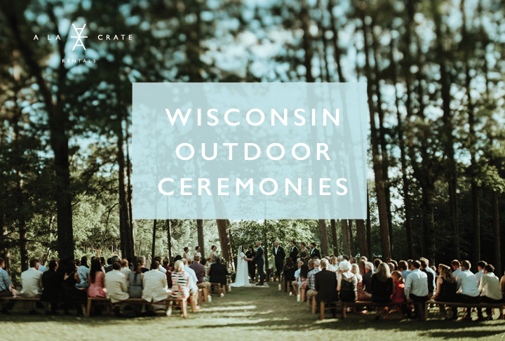 Wisconsin-Outdoor-Ceremonies-A-LA-CRATE-RENTALS. Outdoor Wedding Decorations