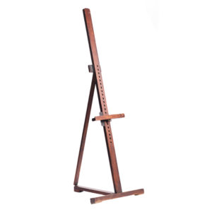 A-La-Crate-Rentals-Easel_single-mast-dark-wood-angle-easel-rental-madison-wisconsin