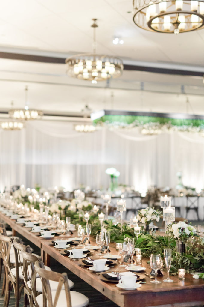 ALaCrateRentals-Maison-Meredith-Harvest-King-Table-The-Edgewater- Indoor Wedding Rentals