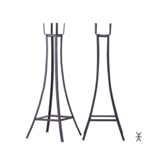 The petite set of two metal plant stands is rent-able. Come on in to our Madison showroom to see what we can create with you.