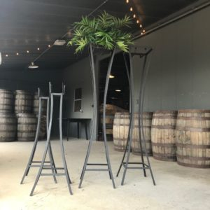 Modern plant stand for your next event, just rent and add plants.
