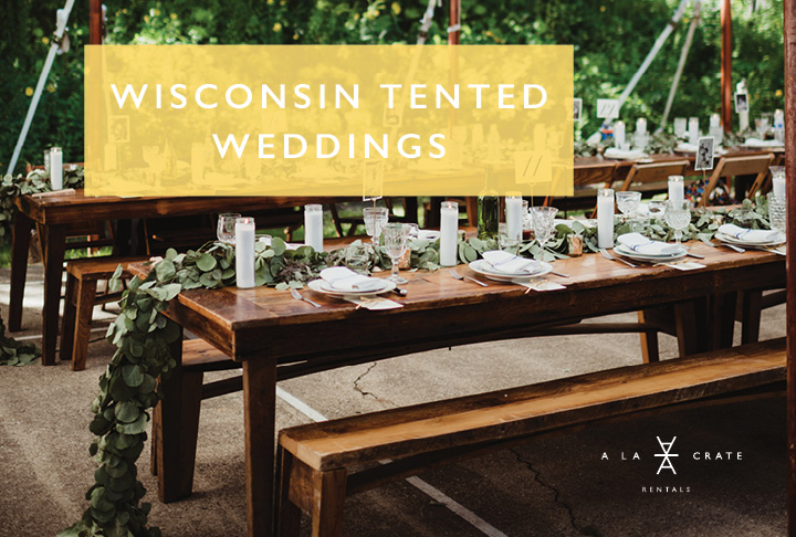 Wisconsin Tented Weddings Vintage Rentals. Outdoor Wedding Rentals. Rustic Wedding Rentals. Wisconsin Event Rentals