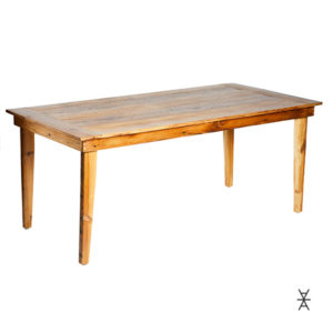 A La Crate Rentals Madison Wisconsin wood tables for rent.