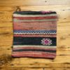 Stripe and flower pillow from woven set