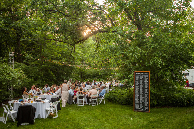 Outdoor Wedding Reception in Wisconsin