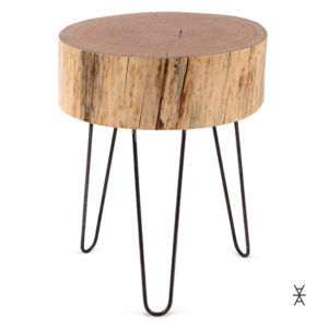 Wood Stump Hairpin Coffee Table Locally Made Rentals Madison WI A La Crate Rentals