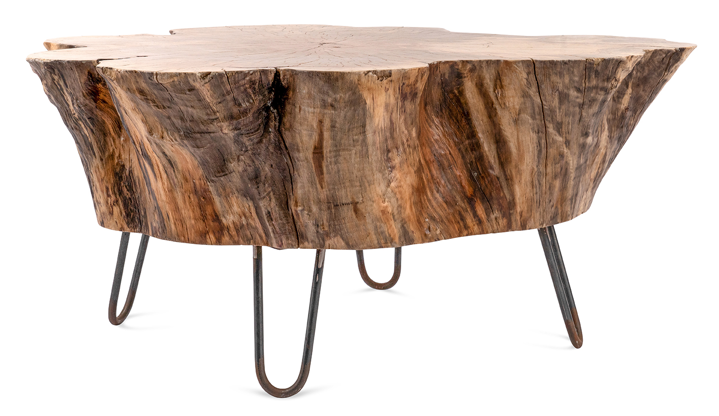 - Table: Stump Hairpin Coffee - A La Crate Rentals