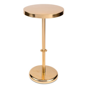 Gold Pedestal Side Table Rental A La Crate Rentals Madison WI